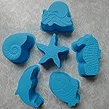 Ocean Animal Silicone Cake Mold /Jelly mold /Pudding mold /Ice cream Chocolate Mold 1set/6PCS