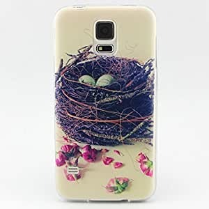 Galaxy S5 Case, LUOLNH Bird Nest Pattern TPU Soft Back Snap On Case Cover Protector For Samsung Galaxy S5 i9600 (not fit Galaxy S5 mini 2014) by ruishername