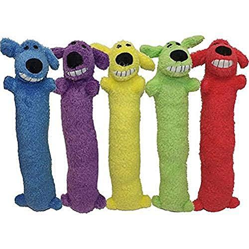 Multipet Loofa Dog Plush Dog Toy (Colors May Vary)