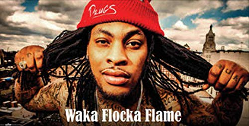 Image Factory WAKA Flocka Print (Unframed 12 X 24 Print)