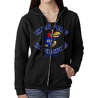 KOBT Women's Kansas Jayhawks Zip-Up Hoodie Jackets Black