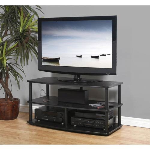 Plateau SE-V3 42 BB Wood and Metal TV Stand, 42-Inch, Black Oak Finish -
