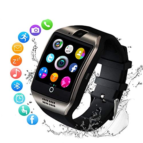 FlashWolves Smartwatch for Android Phones, Smart Watches Touchscreen with Camera Bluetooth Watch Phone with SIM Card Slot Watch Cell Phone Compatible Android Samsung iOS Phone XS X8 7 6 5 Women Men