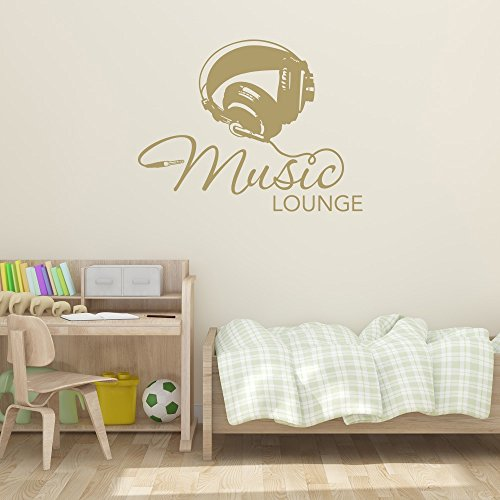 Musical Mural - Music Lounge Wall Decal by Style & Apply - Music Wall Sticker, Musical Vinyl Wall Art, Home Decor, Melody Wall Mural Quotes And Sayings - 4611 - Dark red, 16in x 12in