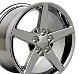#5: 18x9.5 Wheel Fits Corvette, Camaro - C6 Style Chrome Rim