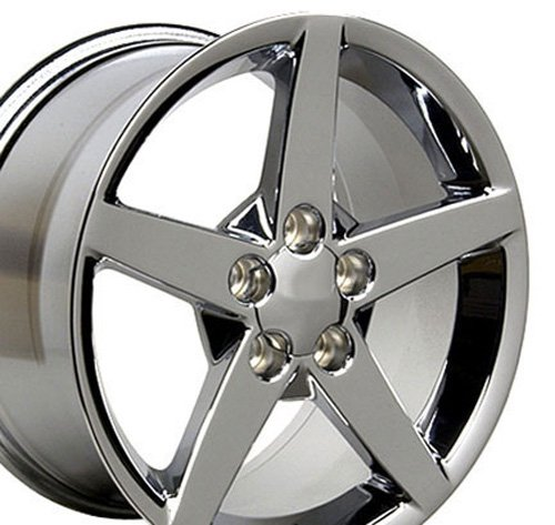 - OE Wheels 19 Inch Fits Chevy Corvette C6 Style CV06B Chrome 19x10 Rim