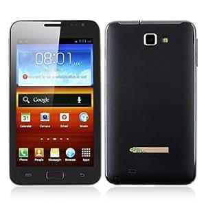 N7000 + 5.3 pulgadas phablet Android 4.0 3G del teléfono inteligente con doble SIM WCDMA + GSM MTK6575 WiFi GPS WVGA 8MP Cámara (Negro)