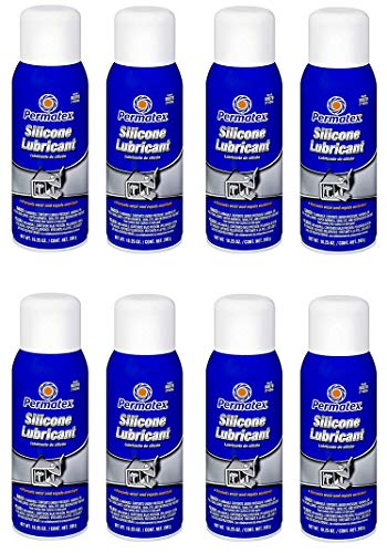 Permatex  80070 Silicone Spray Lubricant, 10.25 oz. net Aerosol Can (8 Pack) by Permatex  (Image #1)