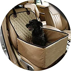 Pumpkin-Kaariage Nylon Waterproof Travel 2 in 1 Carrier for s Folding Thick Pet Cat Car Booster Seat Cover Outdoor Pet Bag Hammock,Gray,M