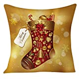 Pillow Cover,Laimeng New Arrival Linen Blend Christmas Sofa Home Pillow Case Cushion Cover