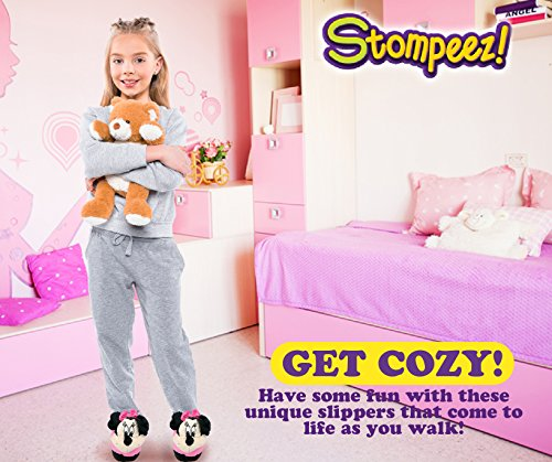 Stompeez Animated Minnie Mouse Plush Slippers - Ultra Soft and Fuzzy - Ears Flap as You Walk - Medium by Stompeez (Image #3)