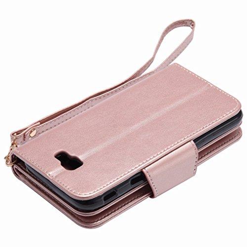 Yiizy Samsung Galaxy J5 Prime (Galaxy On5 (2016), G570) Custodia Cover, Ragazza Goffratura Design Sottile Flip Portafoglio PU Pelle Cuoio Copertura Shell Case Slot Schede Cavalletto Stile Libro Bumper