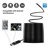USB Endoscope,2 in 1 Inspection Camera 2 Megapixel HD Snake Camera for Android Smartphone with OTG and Windows 5 Meters (16.4 ft)