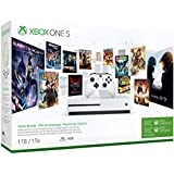 Microsoft Xbox One S 1TB/2TB Starter Bonus Bundle: Xbox Wireless Controller with 3 Month Game Pass, 3 Month Xbox Live Gold, Xbox One S 4K HDR Console - White