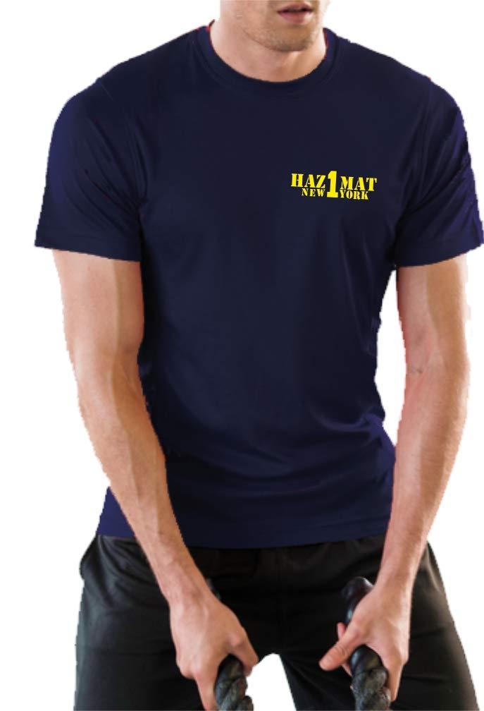 Hazmat Co.1 feuer1 Funktions-T-Shirt Navy mit 30 UV-Schutz Gefahrguteinheit
