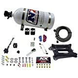 Nitrous Express 30040-10 4150 50-300 HP 4-BBL Gasoline Conventional Stage 6 Plate System with 10 lbs. Bottle