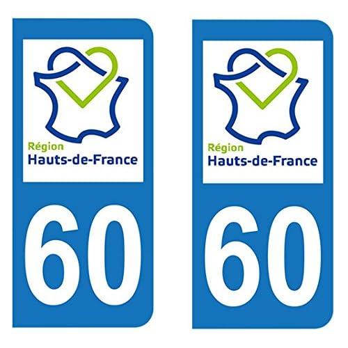 Paire Sticker Hauts-de-France 60 - Oise
