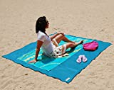 Sand Proof/Water Proof Compact Outdoor Beach -Best Blanket For Outdoor Picnic & Camping & Hiking-Very Soft & Quick Drying Ripstop Polyester Fiber