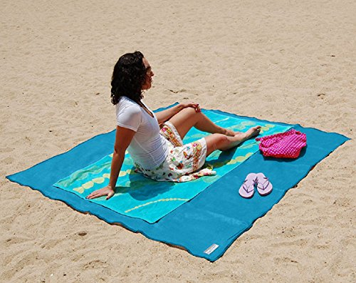 Sand Proof/Water Proof Compact Outdoor Beach -Best Blanket For Outdoor Picnic & Camping & Hiking-Very Soft & Quick Drying Ripstop Polyester Fiber by BABEE