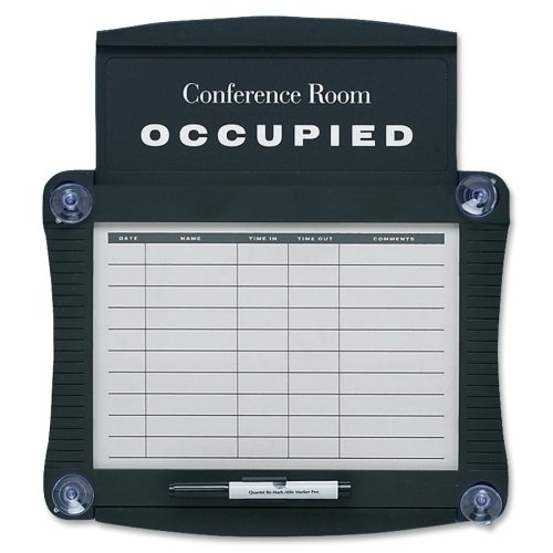 Dry-Erase Conference Room Scheduler, 15 1/2 x 14 1/4, White, Gray Frame, Sold as 1 Each Quartet Conference Room Scheduler Sign
