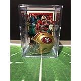 San Francisco 49ers NFL Helmet Shadowbox w/Jerry Rice card