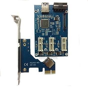 PCI-E 1x a expresar tarjeta vertical de 3 puertos Mini ITX ranura ...