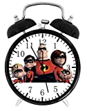 Disney The Incredibles Alarm Desk Clock Home Office Decor F78 Nice For Gifts