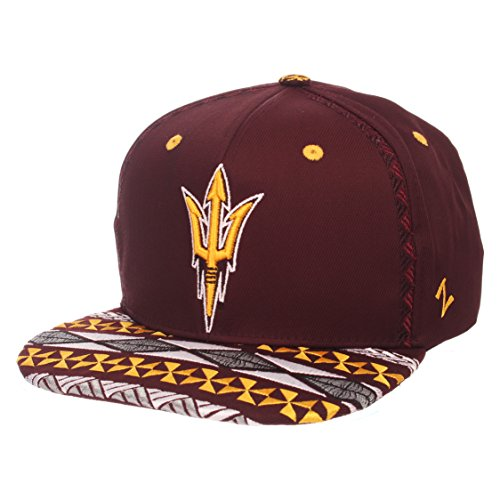 Zephyr NCAA Arizona State Sun Devils Adult Men Makai Snapback Hat, Adjustable, Team Color ()