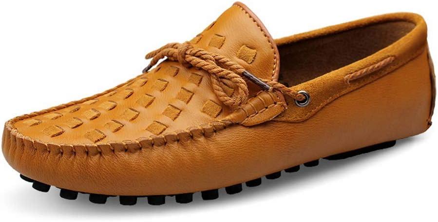 Zhulongjin Penny Driving Mocasines de los hombres clásicos Zapatos para hombres Caminar ocasional Mocasines de barco Suave cuero genuino Vamp Vollow Ligero con cordones decoración Resistente al desgas: Amazon.es: Hogar