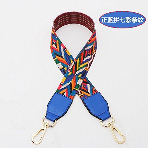 (Blue Woven belt Wide 3.8cm / Length 73cm Mini Purse/Shoulder/Cross Body Bag Replacement DIY Strap replacement purse strap)