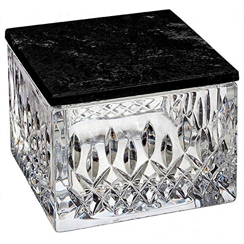 Waterford Lismore Covered Box With Marble Lid