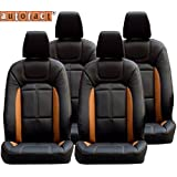 Autofact AF02 Art Leather Car Seat Covers Hyundai Santro Xing (Black/Tan)