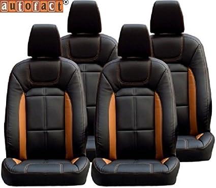 Autofact AF02 Art Leather Car Seat Covers Tata Tiago Black Tan