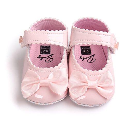 Sabe Infant Baby Girls Soft Sole Prewalker Crib Mary Jane Shoes Princess Light Shoes (13cm(12-18month), pink)