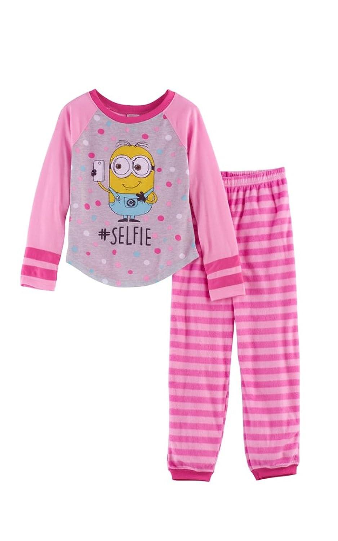 AME Despicable Me 3 Girls Minions #Selfie Pajama Set, Pink