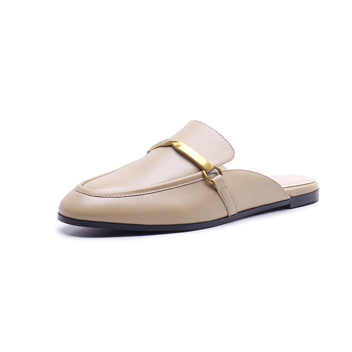 XUE Damenschuhe Leder Sommer Komfort Sandalen/Hausschuhe & & & Flip-Flops Leichte atmungsaktive Wanderschuhe aushöhlen Mode Office Flat Loafers (Farbe : B, Größe : 38) B ca41ca