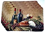 Grape Kitchen Decor Wine Themed Plastic Placemats - Set of 4