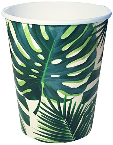 (Talking Tables Fiesta Party Supplies | Fiesta Cocktail 9oz cups | Great For Jungle Themed Party, Luau Party, Hawaiian Party, Baby Shower And Birthday Decorations | Paper, 8 Pack)