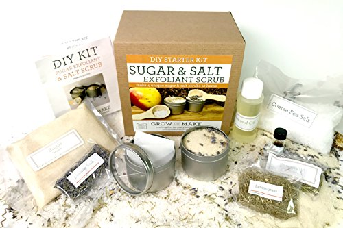 Sugar & Salt Scrub Exfoliate DIY Making Kit - Learn how to make home made scrubs and exfoliants