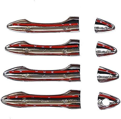 para Hyundai Tucson IX35 2010 20112012 2013 2014 XHULIWQ Etiqueta cromada del Ajuste de la manija de la Puerta del Cromo del ABS