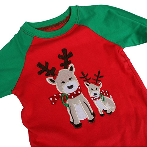1c6915775f25 Toddler Kid Girls Christmas pajama T shirt+long pants YSQA7052