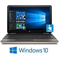 HP Pavilion 15-au067 Sleek Touchscreen Laptop Intel i5 up to 2.8GHz 8GB 1TB 15.6 HD WLED Webcam DVD+/-RW B&O (Modern Gold)