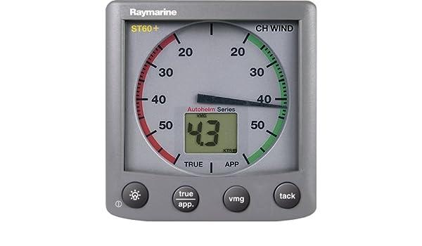 Raymarine ST60+ - Pantalla para Mostrar la Velocidad del Viento, Color Gris: Amazon.es: Deportes y aire libre