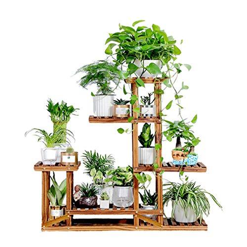 Tiered Plant Stand Wooden Succulents Shelf Flower Pots Holder for Garden Home Decor