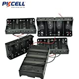 5 Pcs Clip Black 4 x 1.5V D Size Battery Holder Case Storage Box