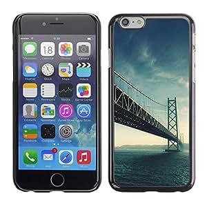 TopCaseStore / la caja del caucho duro de la cubierta de protección de la piel - Architecture USA Beautiful San Fran SF Bridge - Apple iPhone 6