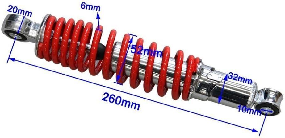 260mm 270 Color : 250mm 9.8inch YUQINN Motorradteile 400 kg Front Suspension Sto/ßd/ämpfer for 250 290mm Motorrad 50cc 70 90 110cc 125cc Dirt Pit Bike ATV Go Kart