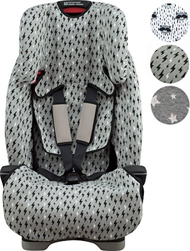 Janabebé Cover Liner for car seat Graco Milestone (Black Rayo)