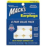 Macks Pillow Soft Silicone Earplugs Value Pack, 6-Count (3)