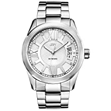 JBW Men's J6311B Analog Display Japanese Quartz Silver Watch